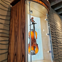 Violin Shrine illuminate priceless violins using Tubelight LED Pro