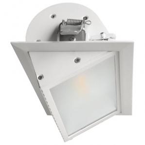 Ceiling LED Downlights - CRI80> 26W 2400lm LED Wallwasher Downlight (4000K) White