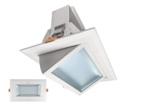 Ceiling LED Downlights - CRI80> 40W 3300lm LED Wallwasher Downlight (4000K) White