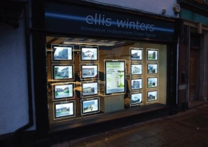 Window Display Lighting Bevelled Edge Light Panels
