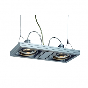 AIXLIGHT ES111 Pendants AIXLIGHT DUO 2 x 75W ES111 Pendant - Silver