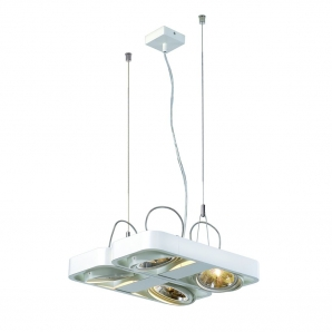 AIXLIGHT R2 AR111 Pendants AIXLIGHT R2 SQUARE 4 x 50W AR111 Pendant - White