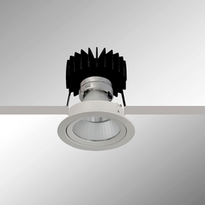 CRI95> Downlights Universal Clear Round LED Downlight - White