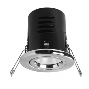 Fire Rated LED Downlights VERSOFIT Fixed Downlight 2800K Chrome