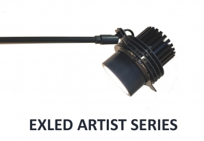 Museum Lighting EXLED Spotlight with Artist Series LED