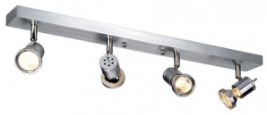 240V Surface Mount Spotlights ASTO 4 GU10 4 x 50W Spotlight - Aluminium