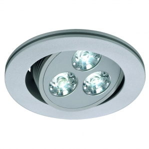 LED UNDER CABINET Lighting 3W 350mA LED Downlight (4000K) Silver