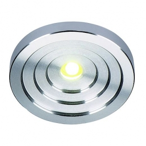 LED UNDER CABINET Lighting 1W LED Concave Downlight (3000K) Aluminium