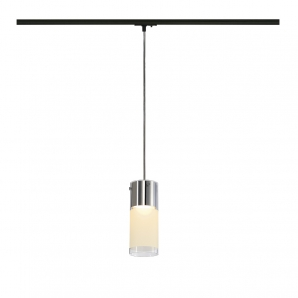 1 CIRCUIT Track Luminaires COMMO GX53 13W Pendant - Chrome/Clear/White