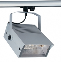 3 CIRCUIT Track Luminaires HQI-TS 150W Floodlight - Silver
