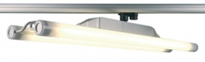 3 CIRCUIT Track Luminaires Twintube Spotlight - Silver