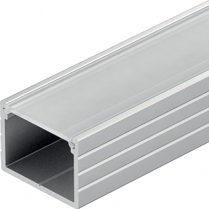 LED Aluminium Profiles 2.5m 18mm x 13mm Surface Mount Profile - Frosted Diffuser