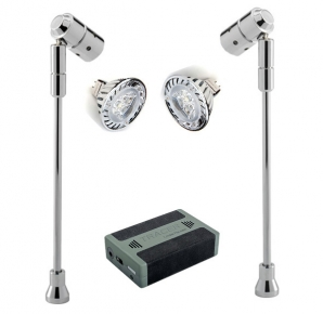 SPECTRUM LED Spotlight Battery Kits 2 x Spectrum Stalk Spots, LED Lamps & Battery KIT